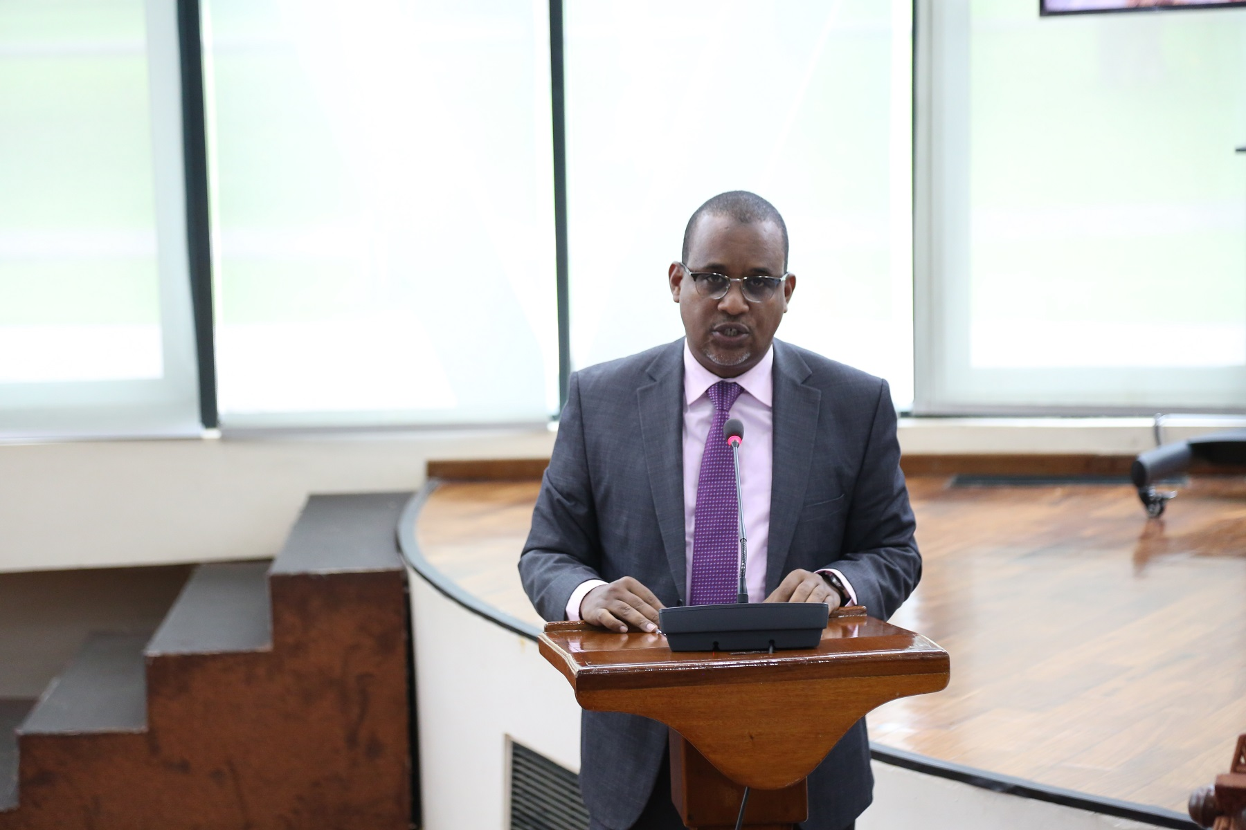 Chair of the Committee on General Purpose Committee, Hon Abdikadir O. Aden, presents the Committee's report on the EAC Supplementary Appropriation Bill, 2020.