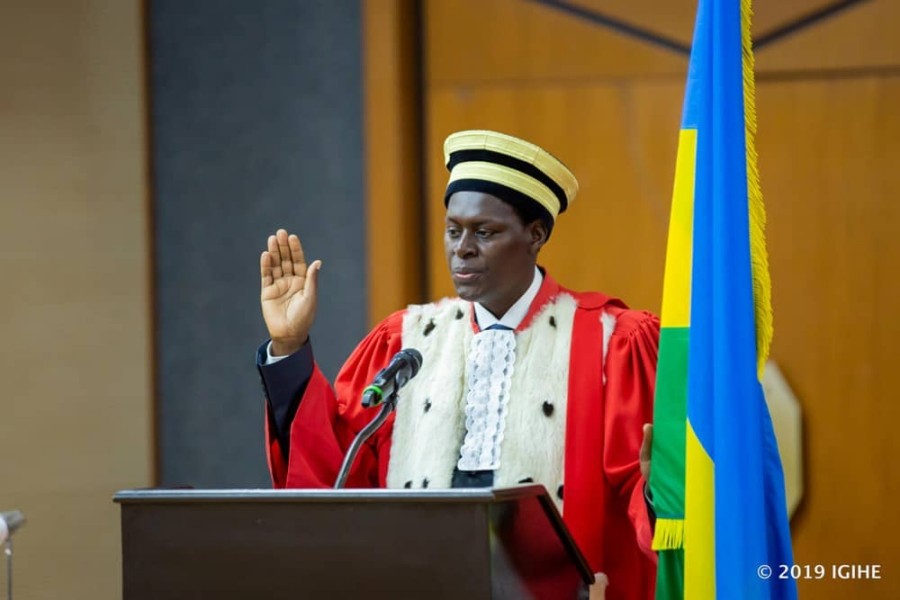 Hon Justice Dr Faustin Ntezilyayo appointed as the Chief Justice of the Republic of Rwanda, taking the Oath