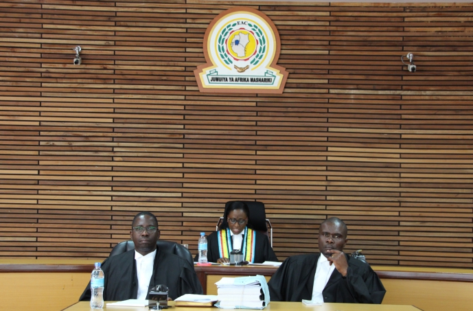 Principal Judge Hon. Lady Justice Monica Mugenyi Principal Judge delivering the ruling in Court.