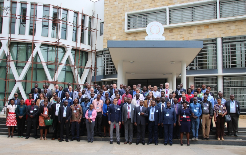 A group photo opportunity during the opening of the Regional Learning Event and Investor Forum on Environment and Natural Resources Management