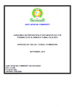 gmp13 Guideline for Preparation of Site Master File For Pharmaceutical Manufacturing Facilities