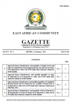 1jan2021 EAC Gazette | 01 January 2021