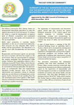 cover17 Summary of EAC Harmonised Guidelines for the Registration of Biopesticides and Biocontrol Agents for Plant Protection