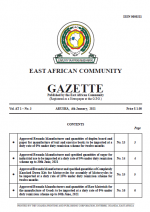 cover 3 jan EAC Gazette | 04 January 2021