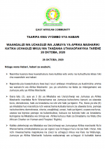 Untitled Waangaliziwa Uchaguzi wa Jumuiya ya Afrika Mashariki katika Uchaguzi Mkuu wa Tanzania utakaofanyika tarehe 28 Oktoba, 2020