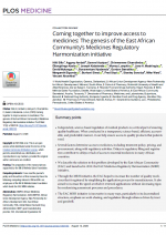 PJ1 Coming together to improve access to medicines: the genesis of the East African Community's Medicines Regulatory Harmonization initiative