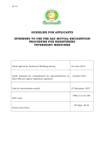 GL11 cover GL11 - Guideline for Applicants Intending to Use the EAC Mutual Recognition Procedure for Registering Veterinary Medicines