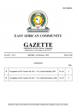 cover gazette - 010221 EAC Gazette |  01 February 2021